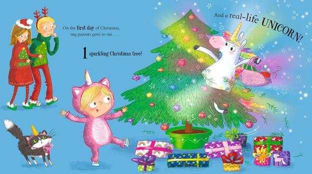 Twelve Unicorns of Christmas spread 1