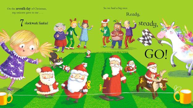 Twelve Unicorns of Christmas spread 2