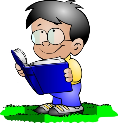 boy reading cartoon